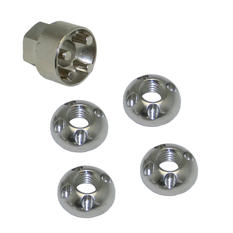 Avelux Security Nuts Stainless Steel M10 4-pack