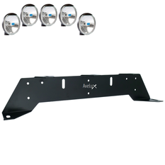 Rally 5, Auxillary Light Bracket, 5 lights  ₒᵒᵒᵒₒ (max 175mm)
