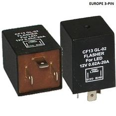 LED Flasher Relay Europe 3-pin