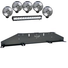 Auxillary Light Bracket, 5 lights and one LED Light Bar