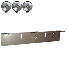Auxillary Light Bracket Stainless, 3 lights ᵒᵒᵒ (210-225mm)