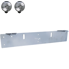 Auxillary Light Bracket Stainless, 2 lights ᵒ ᵒ (140-240mm)