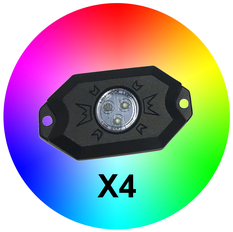 Avelux RGB LED Dome / Rock Light 4-pack